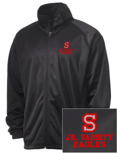 Suquamish Elementary School Eagles Embroidered Men's Tricot Track Jacket