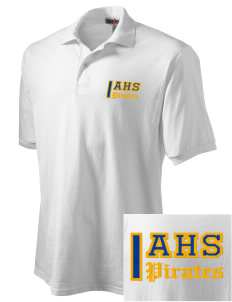 Adna Senior High School Pirates Embroidered Men's Jersey Polo