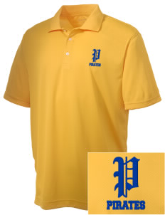 Adna Senior High School Pirates Embroidered Men's Double Mesh Polo