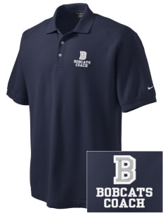 Belfair Elementary School Bobcats Embroidered Nike Men's Pique Knit Golf Polo