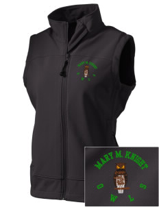 Mary M Knight School Owls  Embroidered Women's Glacier Soft Shell Vest