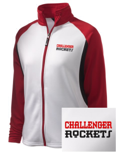 Challenger Middle School Rockets Embroidered Holloway Women's Reaction Tri-Color Jacket