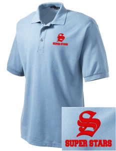 Sunrise Elementary School Super Stars Embroidered Men's Silk Touch Polo