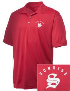 Sunrise Elementary School Super Stars Embroidered Men's Double Mesh Polo