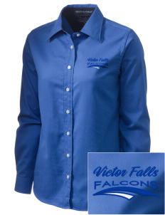 Victor Falls Elementary School Falcons  Embroidered Women's Pima Advantage Twill
