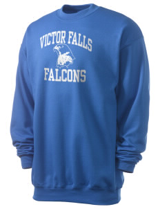 Victor Falls Elementary School Falcons Men's 7.8 oz Lightweight Crewneck Sweatshirt