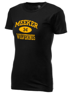 Meeker Middle School Wolverines Alternative Women's Basic Crew T-Shirt