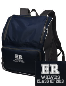 Elk Ridge Elementary School Wolves Embroidered Holloway Backpack