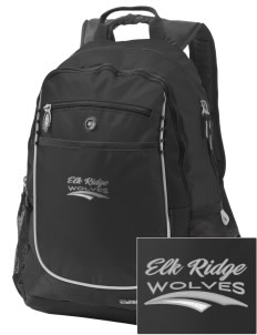 Elk Ridge Elementary School Wolves Embroidered OGIO Carbon Backpack