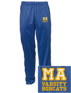 Mill A Elementary School Bobcats Embroidered Men's Tricot Track Pants