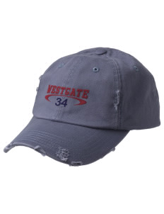 Westgate Elementary School Cougars Embroidered Distressed Cap