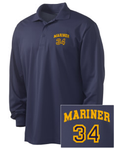 Mariner High School Mariner Marauders Embroidered Men's Long Sleeve Micropique Sport-Wick Sport Shirt