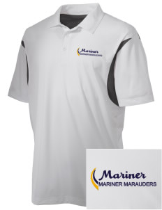 Mariner High School Mariner Marauders Embroidered Men's Back Blocked Micro Pique Polo