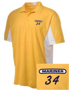 Mariner High School Mariner Marauders Embroidered Men's Side Blocked Micro Pique Polo