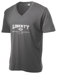 Liberty Elementary School Knights Alternative Men's 3.7 oz Basic V-Neck T-Shirt