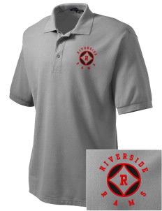 Riverside High School Rams Embroidered Tall Men's Silk Touch Polo