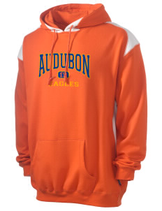 Audubon Elementary School Eagles Men's Pullover Hooded Sweatshirt with Contrast Color