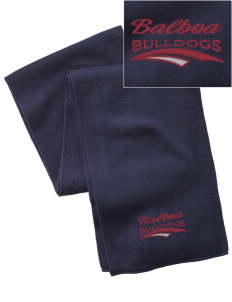Balboa Elementary School Bulldogs  Embroidered Knitted Scarf