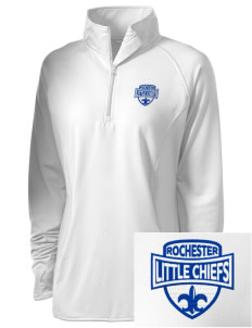 Rochester Primary School Little Chiefs Embroidered Ladies Stretched Half-Zip Pullover