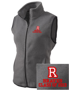 Rochester Middle School Braves Embroidered Women's Fleece Vest