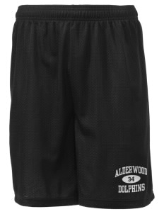 "Alderwood Elementary School Dolphins Men's Mesh Shorts, 7-1/2"" Inseam"