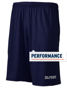 "Alderwood Elementary School Dolphins Holloway Men's Performance Shorts, 9"" Inseam"
