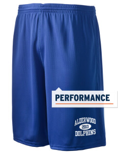"Alderwood Elementary School Dolphins Holloway Men's Speed Shorts, 9"" Inseam"