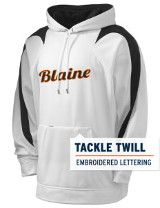 Blaine High School Blaine Borderites Holloway Men's Sports Fleece Hooded Sweatshirt with Tackle Twill
