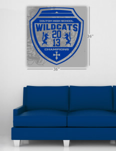 "Colton High School Wildcats Wall Poster Decal 36"" x 36"""