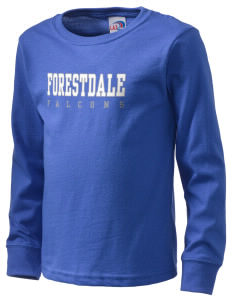 Forestdale School Falcons  Kid's Long Sleeve T-Shirt