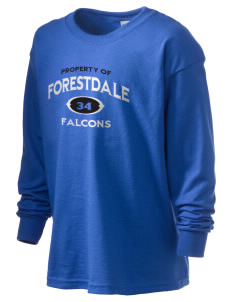 Forestdale School Falcons Kid's 6.1 oz Long Sleeve Ultra Cotton T-Shirt