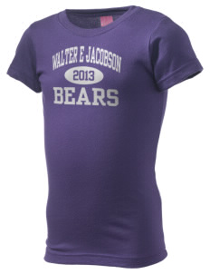 Walter E Jacobson Elementary School Bears  Girl's Fine Jersey Longer Length T-Shirt