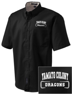 Yamato Colony Elementary School Dragons Embroidered Men's Easy Care Shirt