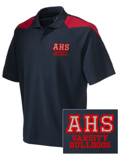 Ayala High School Bulldogs Embroidered Holloway Men's Frequency Performance Pique Polo