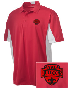 Ayala High School Bulldogs Embroidered Men's Side Blocked Micro Pique Polo