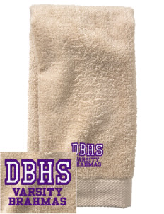 Diamond Bar High School Brahmas  Embroidered Zero Twist Resort Hand Towel