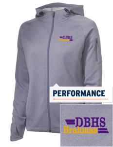 Diamond Bar High School Brahmas Embroidered Women's Tech Fleece Full-Zip Hooded Jacket
