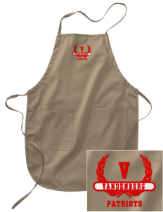 Vandenberg Elementary School Patriots Embroidered Full Length Apron
