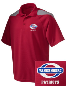 Vandenberg Elementary School Patriots Embroidered Holloway Men's Frequency Performance Pique Polo