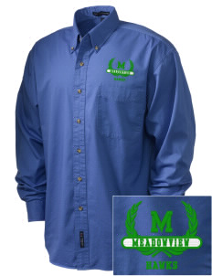 Meadowview Elementary School Hawks Embroidered Tall Men's Twill Shirt