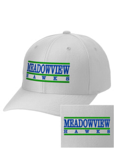 Meadowview Elementary School Hawks Embroidered Wool Adjustable Cap
