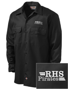 Reedley High School Pirates Embroidered Dickies Men's Long-Sleeve Workshirt