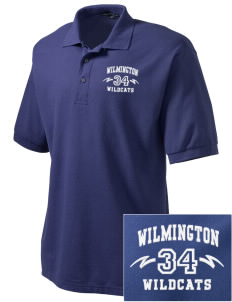 Wilmington High School Wildcats Embroidered Men's Silk Touch Polo