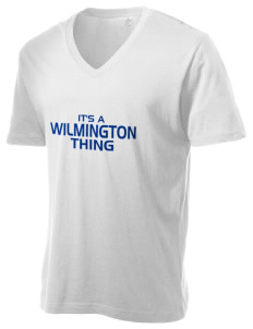 Wilmington High School Wildcats Alternative Men's 3.7 oz Basic V-Neck T-Shirt
