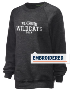 Wilmington High School Wildcats Embroidered Unisex Alternative Eco-Fleece Raglan Sweatshirt