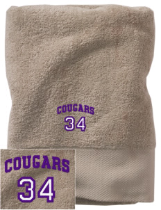 Cobblestone Elementary School Cougars Embroidered Zero Twist Resort Towel