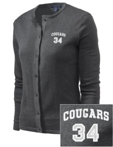 Oklahoma Union School Cougars Embroidered Women's Cardigan Sweater