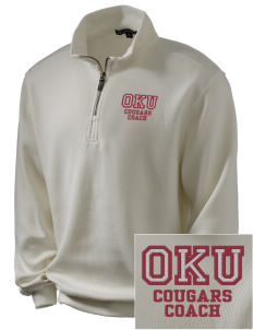 Oklahoma Union School Cougars Embroidered Men's 1/4-Zip Sweatshirt