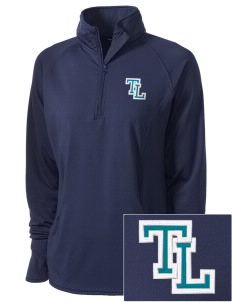 Trinity Lutheran School Eagles Embroidered Ladies Stretched Half-Zip Pullover