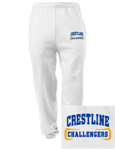 Crestline School Challengers Embroidered Men's Sweatpants with Pockets